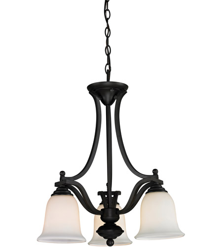 Z-Lite 703-3-MB Lagoon 3 Light 20 inch Matte Black Chandelier Ceiling Light photo