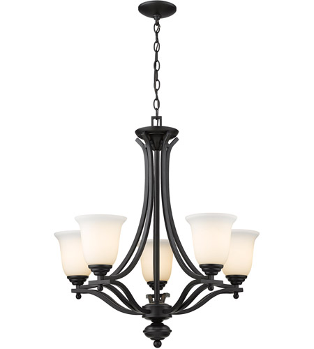 Z-Lite 703-5-MB Lagoon 5 Light 27 inch Matte Black Chandelier Ceiling Light photo