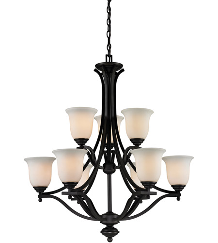 Z-Lite 703-9-MB Lagoon 9 Light 32 inch Matte Black Chandelier Ceiling Light photo