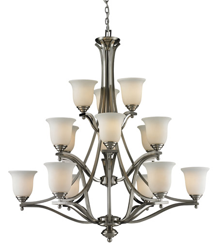 Brushed Nickel Steel Lagoon Chandeliers