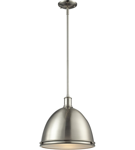 Brushed Nickel Steel Mason Pendants