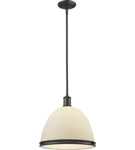 Z-Lite 712P13-BRZ Mason 1 Light 13 inch Bronze Pendant Ceiling Light photo thumbnail