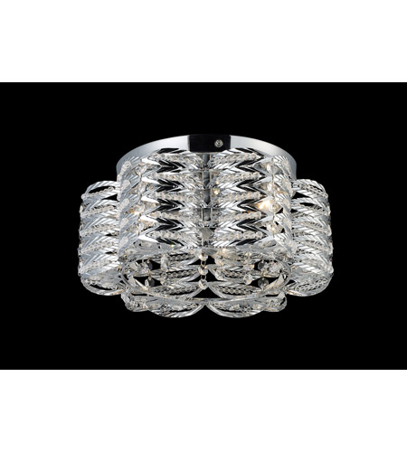 Z-Lite Adara 3 Light Flush Mount in Chrome 844CH photo