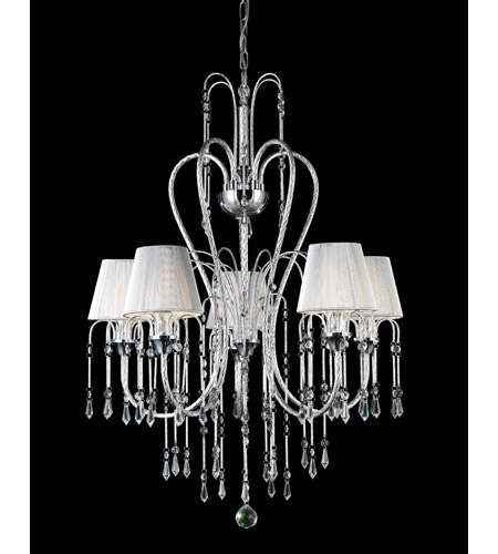 Z-Lite Palomar 5 Light Crystal Chandelier in Chrome 847CH photo