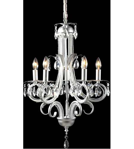 Z-Lite 849S Pearl 5 Light 15 inch Silver Mini Chandelier Ceiling Light photo