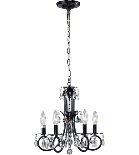 Z-Lite 852BK Pearl 5 Light 15 inch Black Mini Chandelier Ceiling Light photo