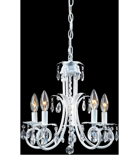 Z-Lite 853W Pearl 5 Light 15 inch Gloss White Mini Chandelier Ceiling Light photo