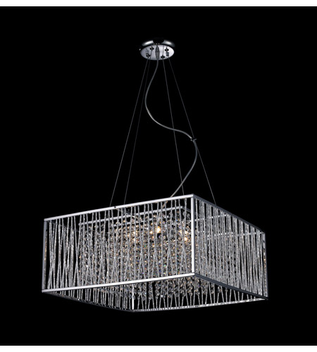 Z-Lite 854CH Zenith 6 Light 20 inch Chrome Crystal Chandelier Ceiling Light photo