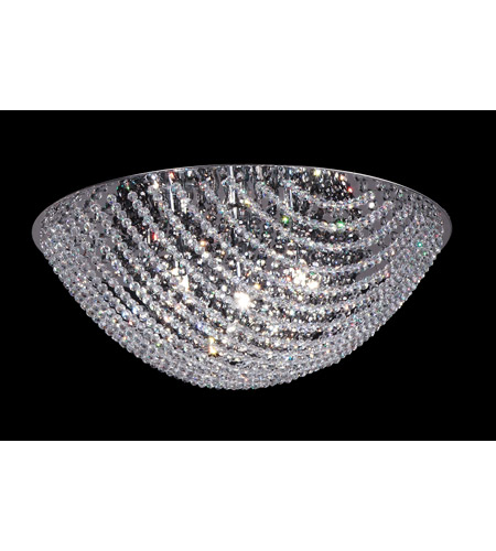 Z-Lite Athene 4 Light Flush Mount in Chrome with Crystal Glass 866SM photo