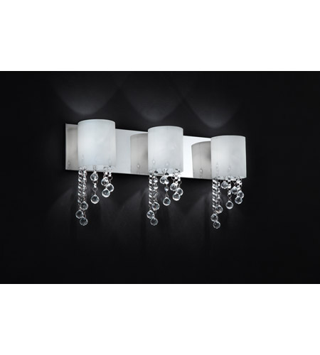 Z-Lite 871CH-3V Jewel 3 Light 22 inch Chrome Vanity Light Wall Light photo