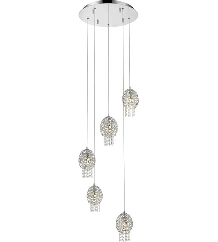 Z-Lite 889CH-5A  sc 1 st  Lighting New York & Z-Lite 889CH-5A Nabul 5 Light 16 inch Chrome Pendant Ceiling Light ...