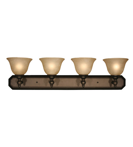 Z-Lite Clayton 4 Light Vanity in Burnt Antique Copper 901-4V-BAC photo