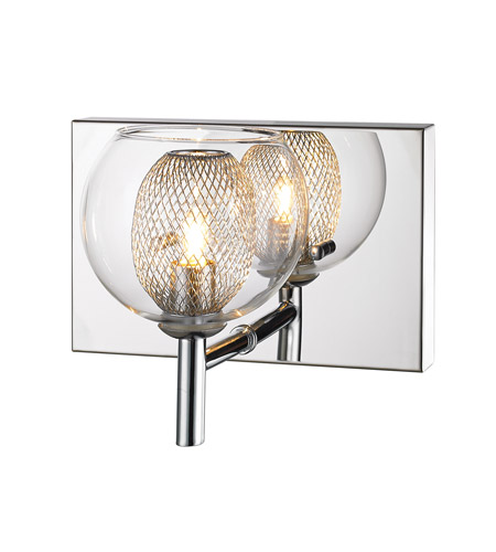Z-Lite Auge 1 Light Wall Sconce in Chrome 905-1S photo