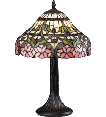 Z-Lite Accent Tiffany Lamp 1 Light Table Lamp in Bronze G12-3021 photo