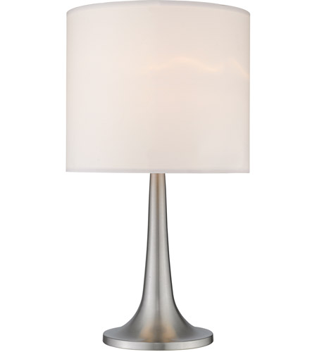 Z-Lite Portable Lamps 1 Light Table Lamp in Satin Nickel TL1002 photo