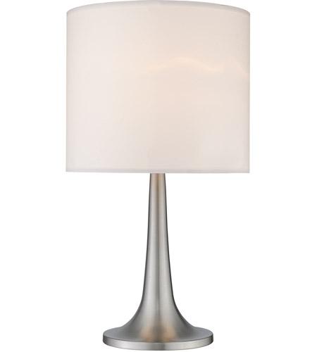 Z Lite Tl1002 Signature 16 Inch 60 Watt Brushed Nickel Table Lamp