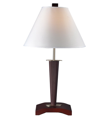 Z Lite TL101 Signature 27 Inch 100 Watt Mahogany Table Lamp Portable Light