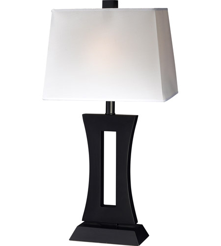 Black Wood Mdf Table Lamps