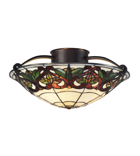 Z-Lite Hudson 3 Light Semi-Flush Mount in Chestnut Bronze Z14-33SF photo
