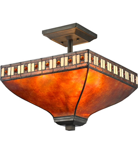 Z-Lite Z14-53SF Crimson 3 Light 14 inch Java Bronze Semi Flush Mount Ceiling Light photo