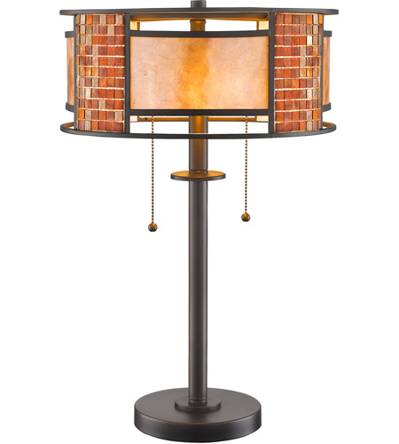 Z-Lite Z14-55TL Parkwood 22 inch 100 watt Bronze Table Lamp Portable Light in Multi Colored Tiffany Glass (55) photo
