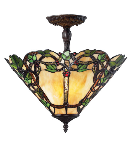 Z-Lite Vidonia 3 Light Semi-Flush Mount in Chestnut Bronze Z16-37SF photo