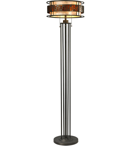 Z-Lite Z16-50FL Oak Park 62 inch 100 watt Java Bronze Floor Lamp Portable Light in 61.5, 18 photo