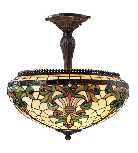 Z-Lite Templeton 3 Light Semi-Flush Mount in Chestnut Bronze Z18-34SF photo