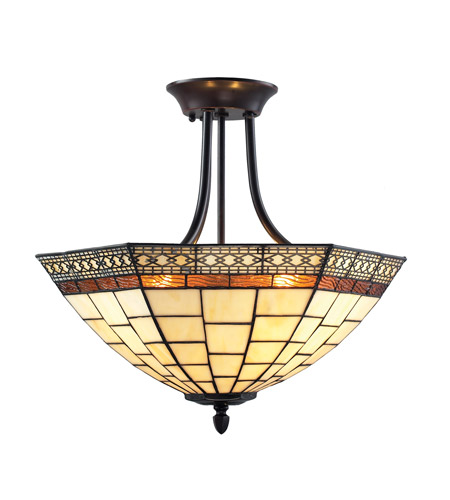 Z-Lite Z18-35SF Prairie Garden 3 Light 18 inch Chestnut Bronze Semi Flush Mount Ceiling Light photo