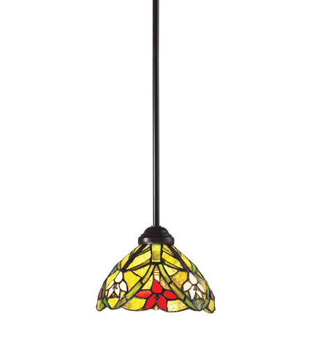 Z-Lite Magnolia 1 Light Mini Pendant in Chestnut Bronze Z8-21MP photo