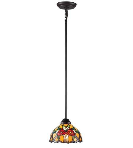Z-Lite Rosa 1 Light Mini Pendant in Chestnut Bronze Z8-38MP photo