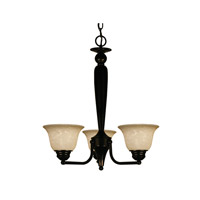 Z-Lite Huntingdale 3 Light Chandelier in Bronze 100-3P-BRZ