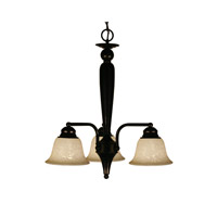 Z-Lite Huntingdale 3 Light Chandelier in Bronze 100-3PD-BRZ