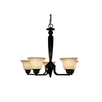 Z-Lite Huntingdale 5 Light Chandelier in Bronze 100-5P-BRZ photo thumbnail