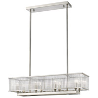 Zalo 8 Light 10 inch Brushed Nickel Pendant Ceiling Light in 32