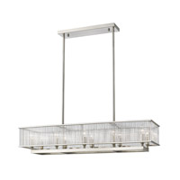 Zalo 10 Light 10 inch Brushed Nickel Pendant Ceiling Light in 42