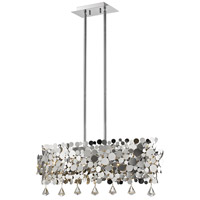 Monaco 6 Light 12 inch Chrome Pendant Ceiling Light in 32