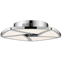 Aeon LED 13 inch Chrome Semi Flush Mount Ceiling Light
