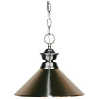 Z-Lite 100701BN-MBN Pendant Lights 1 Light 14 inch Brushed Nickel Pendant Ceiling Light