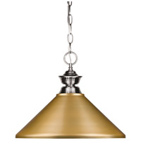 Z-Lite 100701BN-MSG Pendant Lights 1 Light 14 inch Brushed Nickel Island/Billiard Ceiling Light