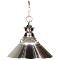Z-Lite 100701BN-RBN Pendant Lights 1 Light 14 inch Brushed Nickel Pendant Ceiling Light