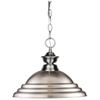 Z-Lite Signature 1 Light Billiard/Pendant in Brushed Nickel 100701BN-SBN