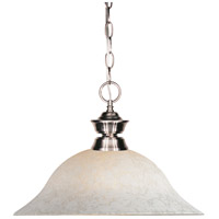 Z-Lite Riviera Bushed Nickel 1 Light Pendant in Brushed Nickel 100701BN-WM16