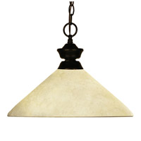 Z-Lite 100701BRZ-AGM14 Chance/Bourbon 1 Light 14 inch Bronze Pendant Ceiling Light in Golden Mottle Angular