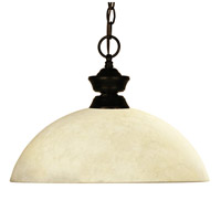 Challenger 1 Light 14 inch Bronze Pendant Ceiling Light in Golden Mottle Dome