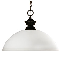 Chance 1 Light 14 inch Bronze Pendant Ceiling Light in Matte Opal Dome