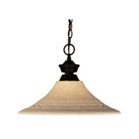 Z-Lite Signature 1 Light Pendant in Bronze 100701BRZ-GF16 photo thumbnail