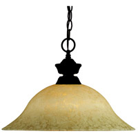 Signature 1 Light 16 inch Bronze Pendant Ceiling Light in Golden Mottle
