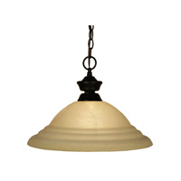 Z-Lite Signature 1 Light Pendant in Bronze 100701BRZ-GSW16