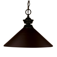 Z-Lite Shooter 1 Light Billiard/Pendant in Bronze 100701BRZ-MBRZ